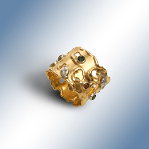MOLDED SOLID GOLD RING