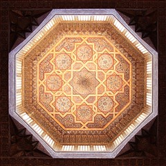 illuminated (ahmed yahia enab) Tags: wood light building art history monument architecture star al worship islam faith religion skylight egypt engineering mosque ceiling cairo ornament sultan complex masjid octagon   muqarnas    ashraf    roset           qaytbay    8pointed
