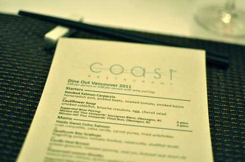 Dine Out Preview - Coast