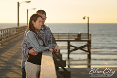 his undivided attention (Trask Smith) Tags: pictures ocean beach gulfofmexico water portraits pier engagement couple texas photos shots tx young freeport engaged lakejackson quintana brazoriacounty bluecityphotography bluecityphotographycom