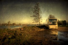 The outskirts of Monnickendam (A r l e t t e (reloaded)) Tags: holland bus tree texture netherlands photoshop sunday nederland textures paysbas hdr noordholland arlette monnickendam 3xp photomatix nikond90 skeletalmess
