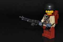 Automatic Rifleman (Đr. Randomness) Tags: world trooper cheese bar soldier army us war lego m1 steel military awesome wwii helmet pot ii allies brickarms