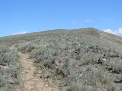 Looking up towards first summit/blip on Yakima Skyline trail.