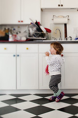 In the Kitchen, 2 (andreaheffernanphotography) Tags: portrait home kitchen child lifestyle checkeredfloor