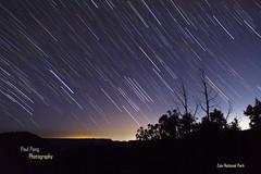 Star Trails over Zion National Park (pauljhpeng) Tags: sky nature night dark stars landscape zion nightsky naitonalpark
