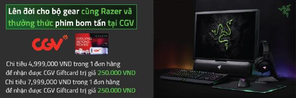 Mua Razer tặng thẻ quà tặng CGV trị giá lên tới 500K