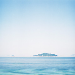 Sea (hisaya katagami) Tags: hasselblad500cm 120film fujifilm pro400h photography landscape square nature sea seto blue island summer hasselblad