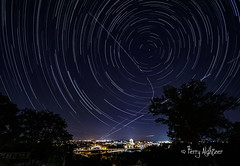 Big Dipper Dipping Down On The Roanoke Valley  With Shooting Star (Terry Aldhizer) Tags: big dipper dipping down roanoke valley virginia night stars trails city meteor shooting star time lapse terry aldhizer wwwterryaldhizercom