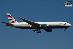 G-ZZZA - 27105 - British Airways - Boeing 777-236 - Heathrow - 100617 - Steven Gray - IMG_4463