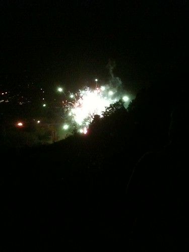 FP fireworks from Box Hill