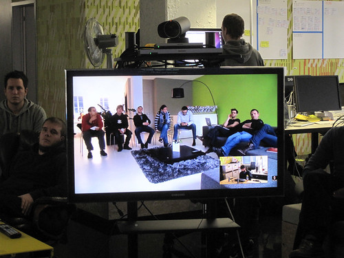 Liip Fribourg participating via videocon by visualpun.ch, on Flickr