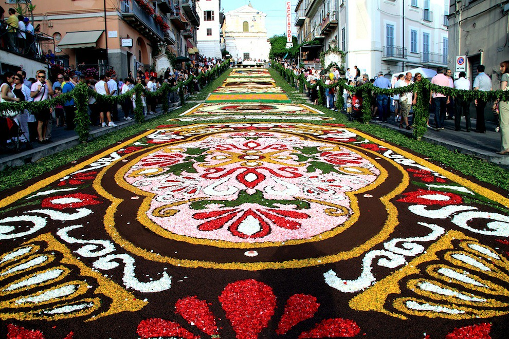 Infiorata, the flower festival