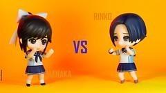 Manaka Vs Rinko (Selphybrand) Tags: toy fight bokeh sony final vs kon yui azusa rinko manaka jfigure a550 nendoroid fihght