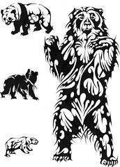 URSO (Black Crown . tribal) Tags: bear white black art design tribal tatoo ilustration urso