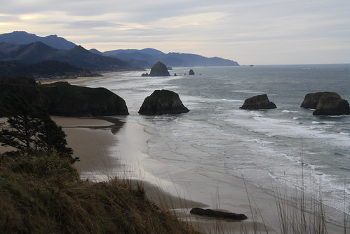 Looking back towards Cannon Beach