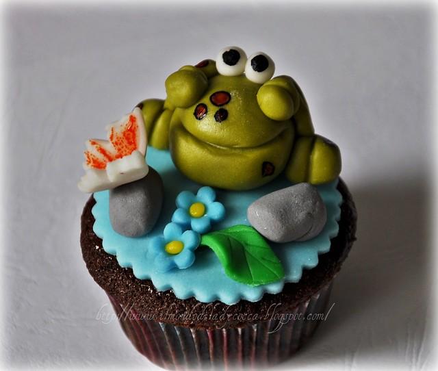 cupcake decorati... Lumaca e Ranocchia