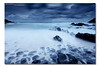 Cold Blue ([ Kane ]) Tags: ocean longexposure blue sea sky seascape cold wet water rain weather clouds landscape dawn sand rocks lee qld noosa kane filters sunshinecoast moring gledhill kanegledhill bigstopper