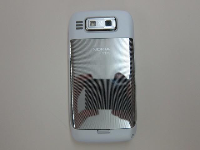 Nokia E72 (White Edition) Back View