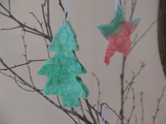 Felted tree ornaments