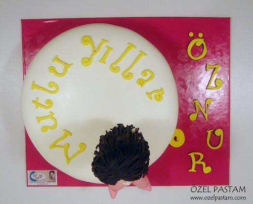 Diyet Temalı Pasta