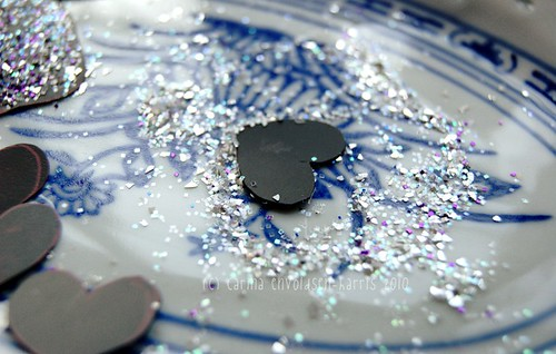 Magnet glitter hearts
