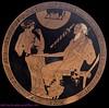 Briseis and Phoinix, rotfiguriger Kylix, um 490 v. Chr., Louvre (G 152)