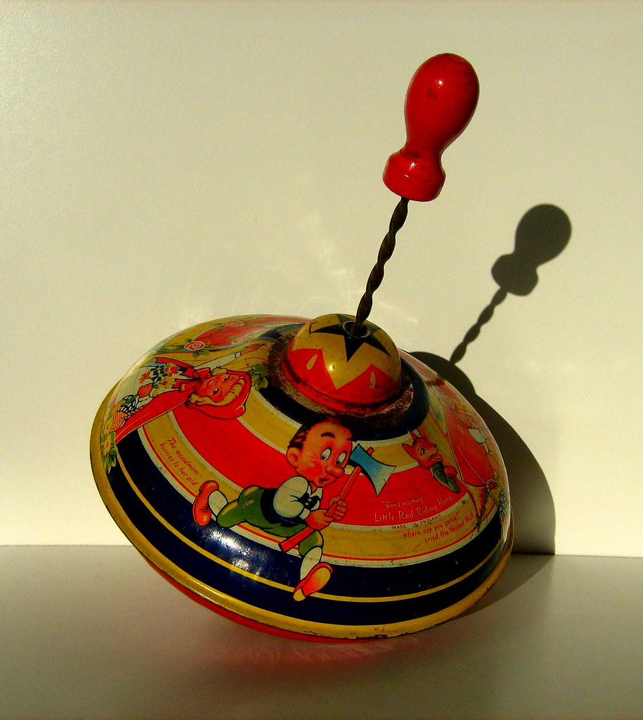Chad Valley Toys - Vintage Tin Lithographed Humming Spinning Top - 2 of 2