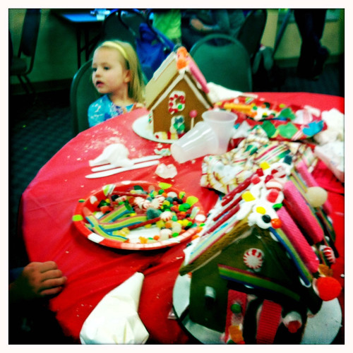 Liv and Georgia's gingerbread houses