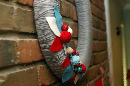 yarn, felt and glitter