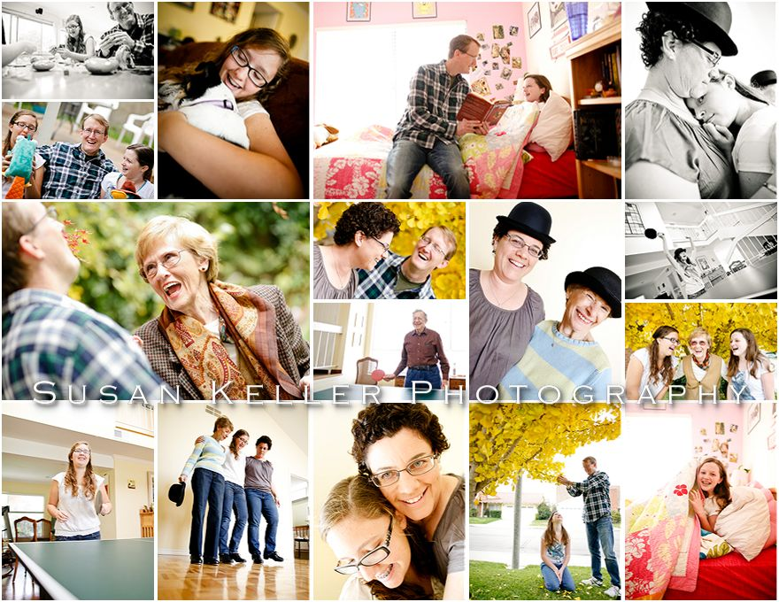 love & laughter collage