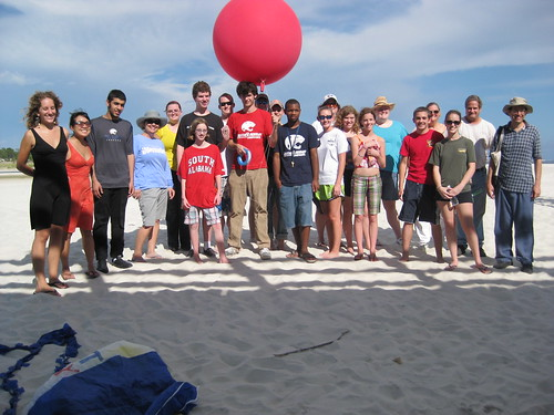 University of South Alabama students on Dauphin Island