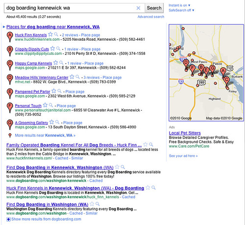 Google Places SERP Displays #1