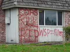COPS KILL (northwestgangs) Tags: graffiti washington renton gangs crips gangsterdisciplenation surenos