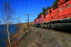 CP 5755 WEST 100910 (mile27) Tags: canadianpacific cp lakesuperior caversontario caversbay nipigonsub cp5755sd402