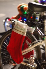 Stockings hung by the bike rack with care