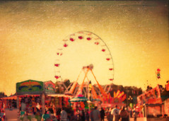 Back in October (Irene2005) Tags: blur 35mm blurry afternoon bokeh crowd northcarolina raleigh ferriswheel ncstatefair f20 primelens nikond90 statfair texturebylesbrumes sliderssunday