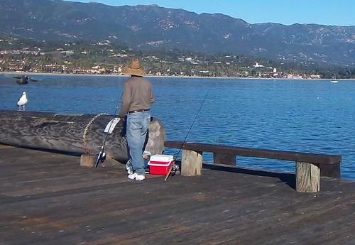 Stearn's Wharf Fisherman
