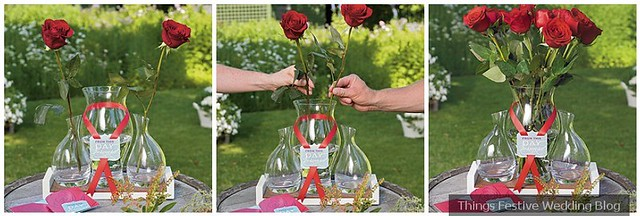 wedding red rose ceremony