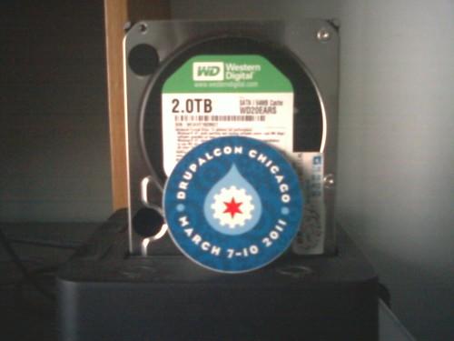 Drupal 水滴貼紙與我的硬碟