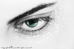 [1\10] (NOURA - alshaya ) Tags: light white black green look canon eyes flickr sad eyelashes bokeh d joy dream iso explore hazel eyelash 500 non eyebrows 2010 noura                    nouero   nueroa
