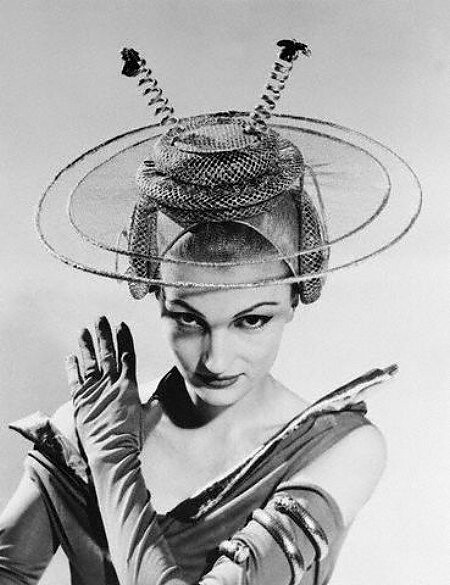 Model with Futuristic Hat
