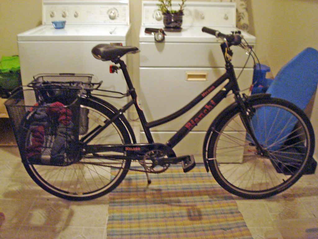 Bike with two baskets
