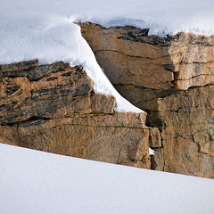 Snowy cliff (Villi.Ingi) Tags: old winter orange cliff white snow cold nature rock wall composition canon square outside ancient snowy rocky crack arctic cover greenland 7d layers cracks simple snowcovered pipc giap eastgreenland snowcover nonnitravel snowycliff giap180311 giapmarch11