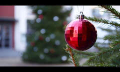 Its a disco christmas (day six of twelve) (Reckless Times) Tags: christmas red party ball disco bokeh oxford