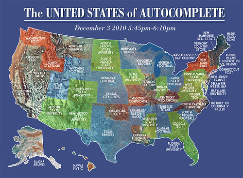The United States Of Autocomplete Big Think - Weird maps of the us