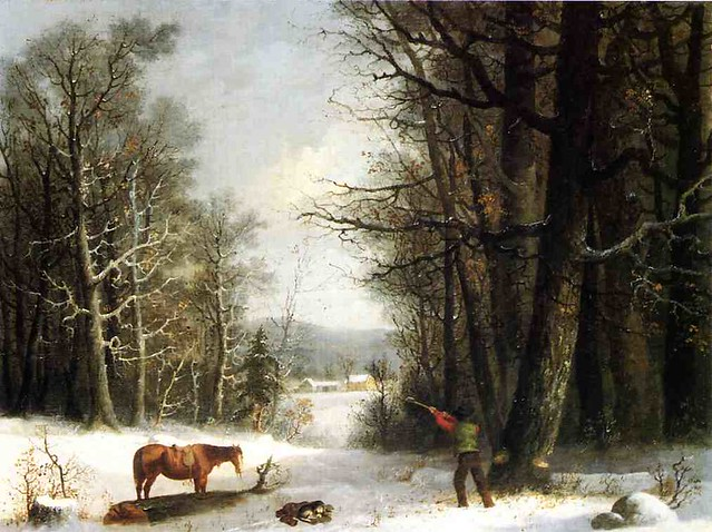 Woodsman in Winter 1858