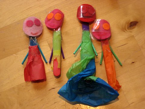 lolly stick puppets