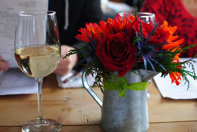 sauv blanc + pretty flowers