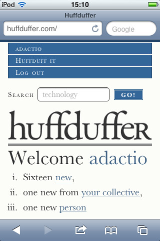Huffduffer on iOS
