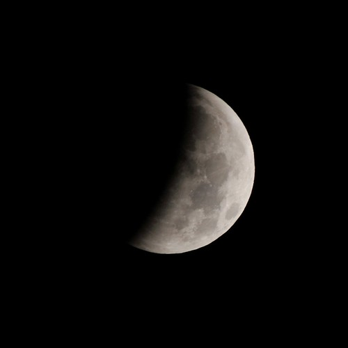 Lunar Eclipse Half Way
